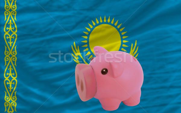 Rijke bank vlag Kazachstan besparing Stockfoto © vepar5