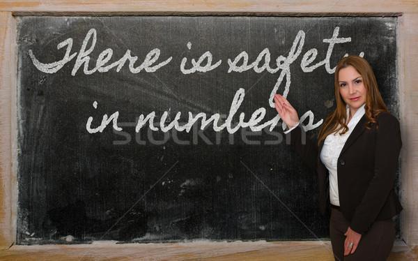 Enseignants sécurité nombre tableau noir réussi Photo stock © vepar5