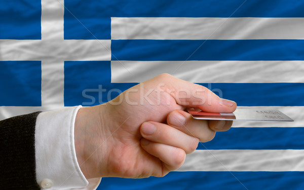 buying with credit card in greece Stock photo © vepar5