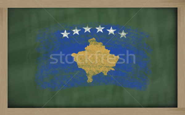 flag of kosovo on blackboard painted with chalk Stock photo © vepar5
