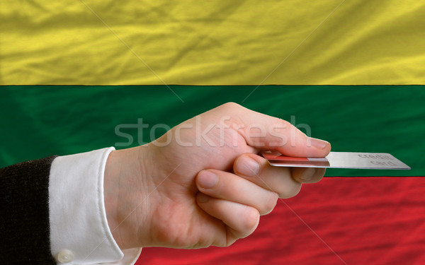 buying with credit card in lithuania Stock photo © vepar5