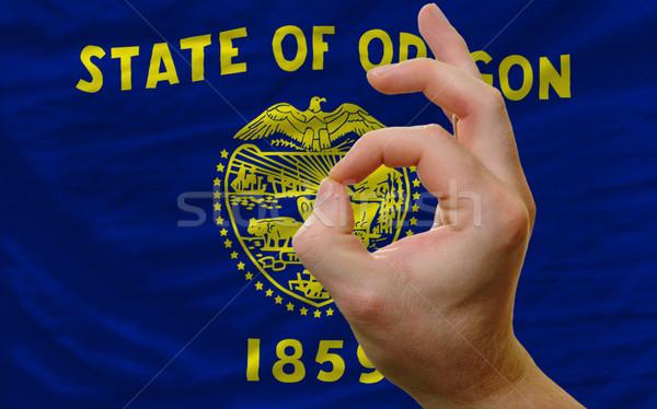 ok gesture in front of oregon us state flag Stock photo © vepar5
