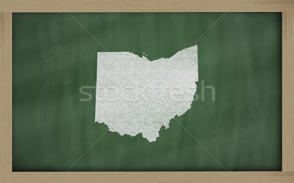 Skicc térkép Ohio iskolatábla rajz tábla Stock fotó © vepar5