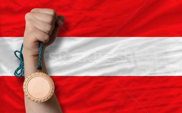 Bronze medal for sport and  national flag of austria    Stock photo © vepar5