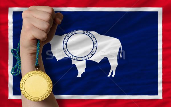 金メダル スポーツ フラグ アメリカン ワイオミング州 勝者 ストックフォト © vepar5