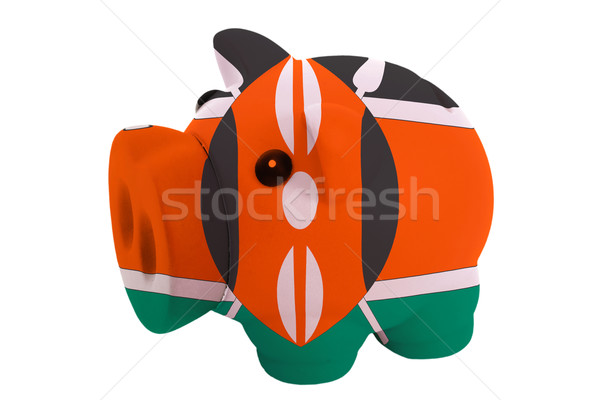 piggy rich bank in colors  national flag of kenya    for saving  Stock photo © vepar5