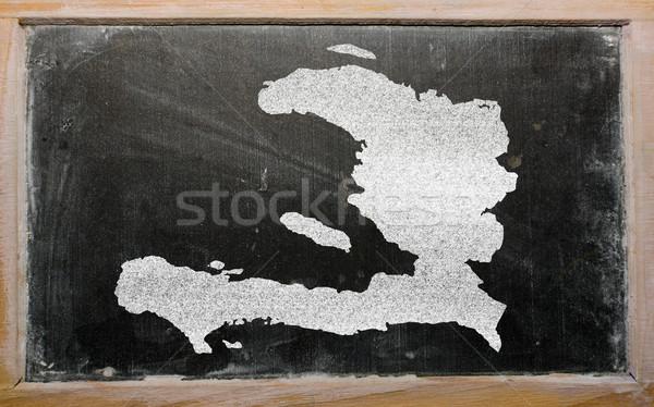 地図 ハイチ 黒板 図面 ストックフォト © vepar5