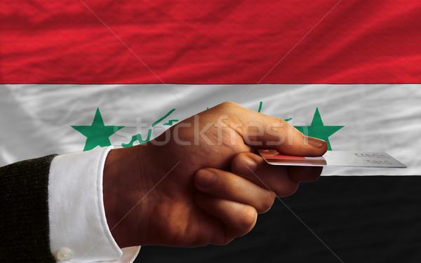 Compra cartão de crédito Iraque homem fora Foto stock © vepar5
