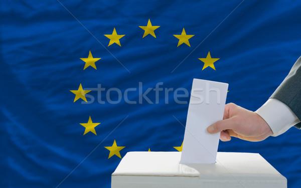 Adam seçimler Avrupa oylama kutu Stok fotoğraf © vepar5