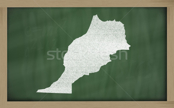 outline map of morocco on blackboard  Stock photo © vepar5