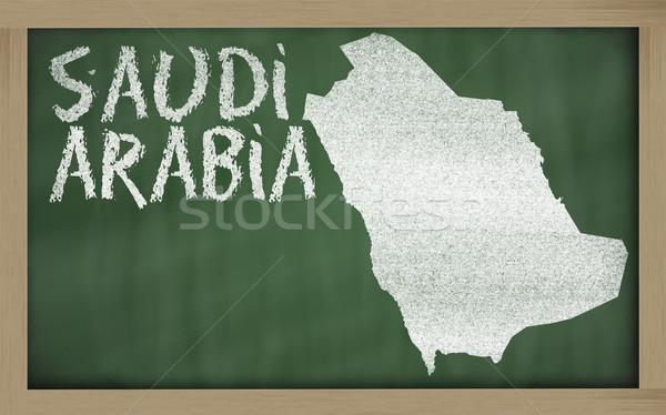 Harita Suudi Arabistan tahta çizim Stok fotoğraf © vepar5