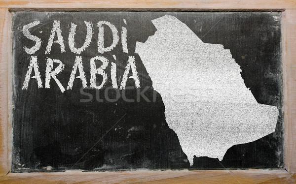 outline map of saudi arabia on blackboard  Stock photo © vepar5