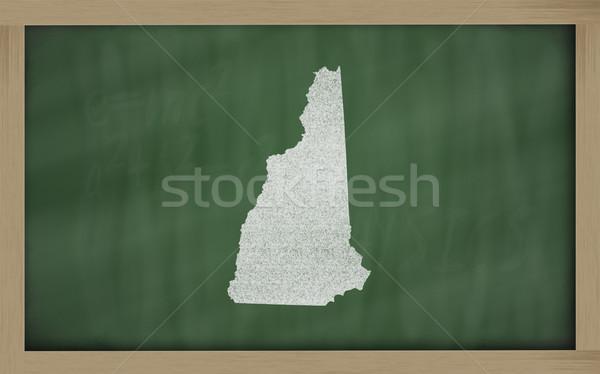Contorno mappa New Hampshire lavagna disegno lavagna Foto d'archivio © vepar5