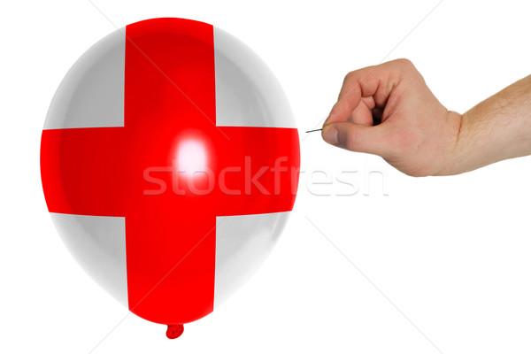 Ballon gekleurd vlag Ecuador concept politiek Stockfoto © vepar5