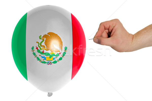 Bursting balloon colored in  national flag of mexico    Stock photo © vepar5