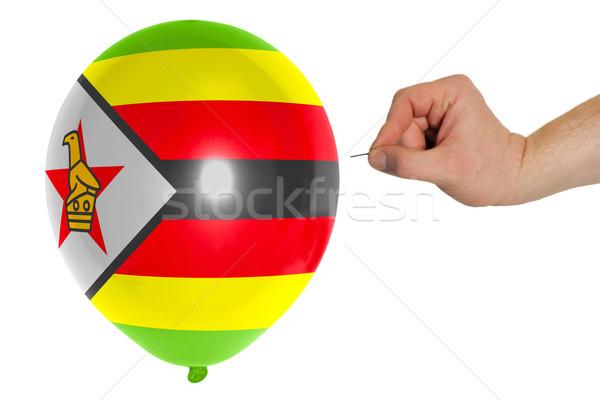 バルーン フラグ ジンバブエ 開く 政治 ストックフォト © vepar5