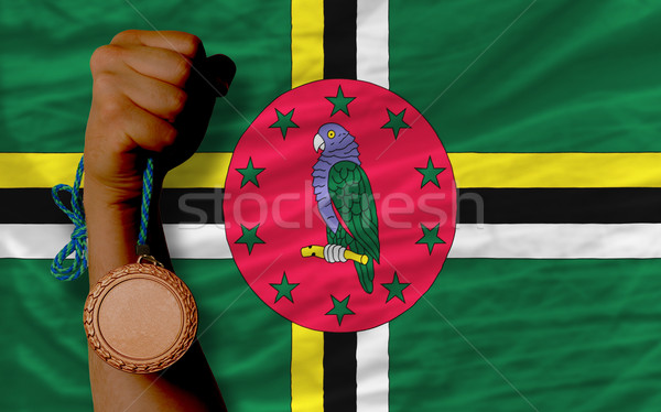 Bronzen medaille sport vlag Dominica Stockfoto © vepar5