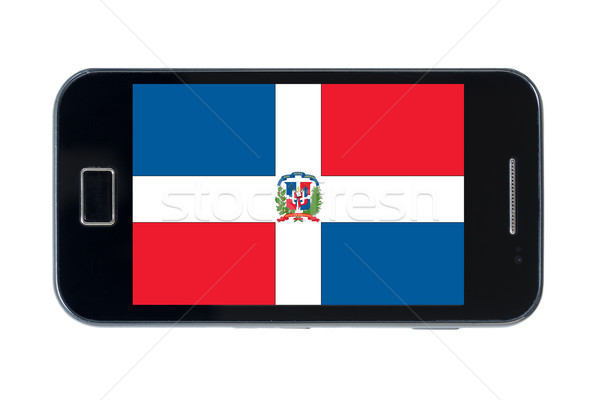 smartphone national flag of dominican    Stock photo © vepar5