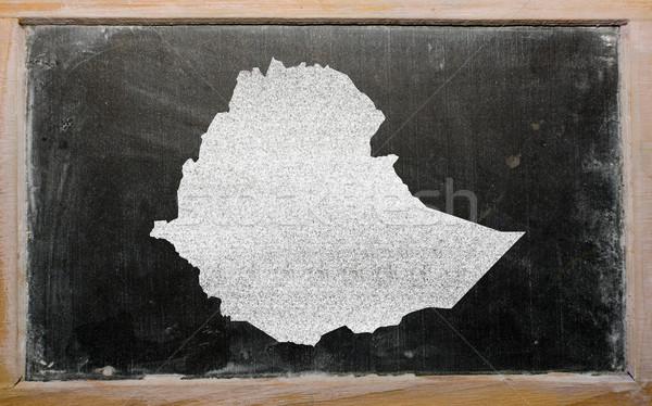 Pokaż Etiopia tablicy rysunek Zdjęcia stock © vepar5
