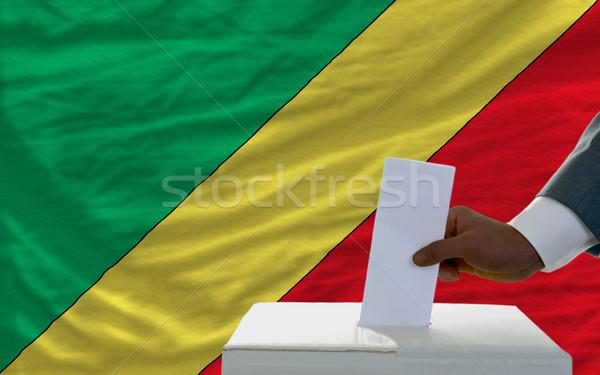 Hombre elecciones bandera Congo votación Foto stock © vepar5
