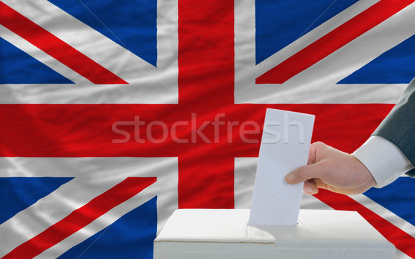 man voting on elections in great britain Stock photo © vepar5