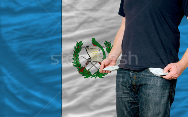 recession impact on young man and society in guatemala Stock photo © vepar5