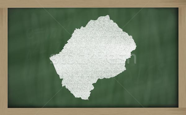 Carte Lesotho tableau noir dessin Photo stock © vepar5