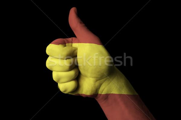 Spagna bandiera pollice up gesto eccellenza Foto d'archivio © vepar5