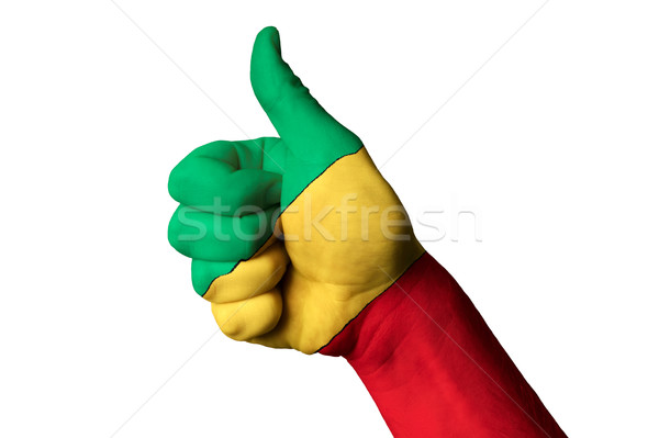 congo national flag thumb up gesture for excellence and achievem Stock photo © vepar5