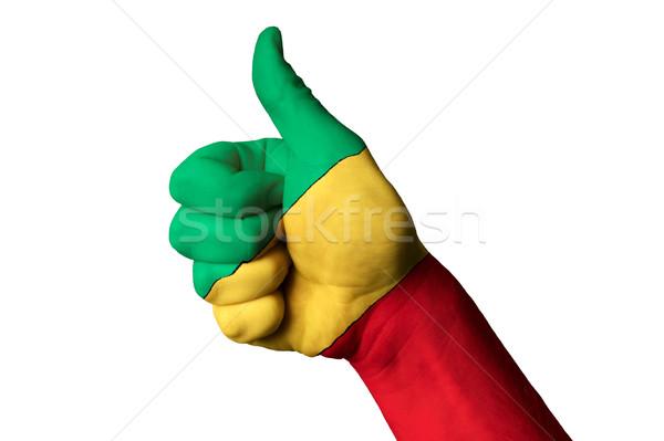 Kongo bayrak başparmak yukarı jest mükemmellik Stok fotoğraf © vepar5