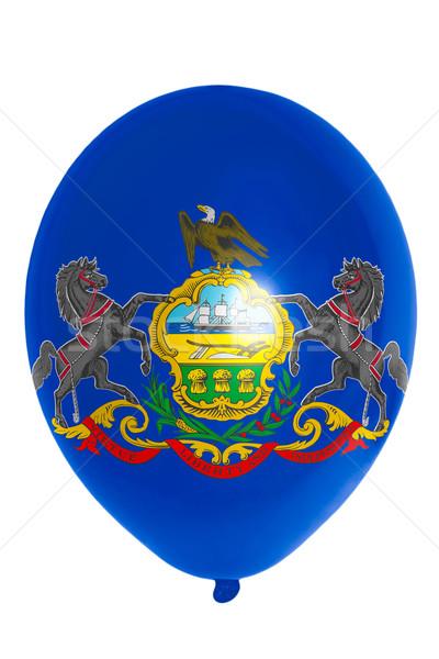 Léggömb színes zászló amerikai Pennsylvania boldog Stock fotó © vepar5