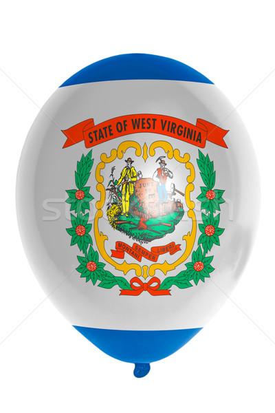 Léggömb színes zászló amerikai Nyugat-Virginia boldog Stock fotó © vepar5