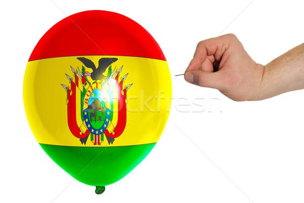 バルーン フラグ ボリビア 背景 針 ストックフォト © vepar5