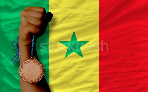 Bronze médaille sport pavillon Sénégal Photo stock © vepar5
