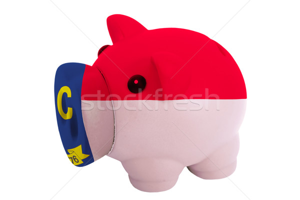piggy rich bank in colors  flag of american state of north carol Stock photo © vepar5