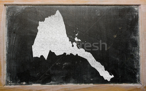 Pokaż Erytrea tablicy rysunek Zdjęcia stock © vepar5