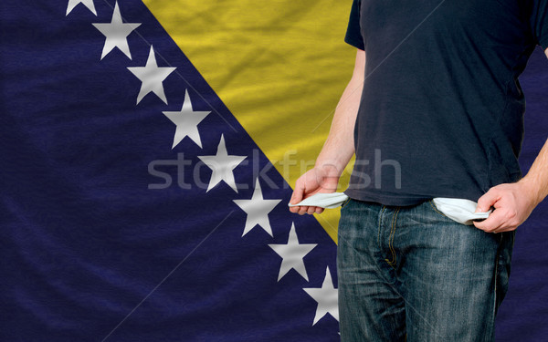 recession impact on young man and society in bosnia herzegovina Stock photo © vepar5