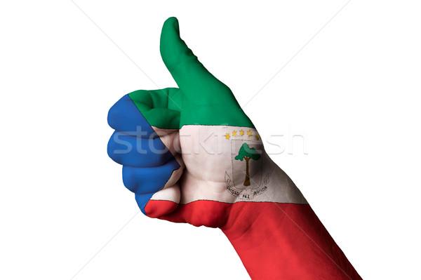 Экваториальная Гвинея флаг большой палец руки вверх жест превосходство Сток-фото © vepar5