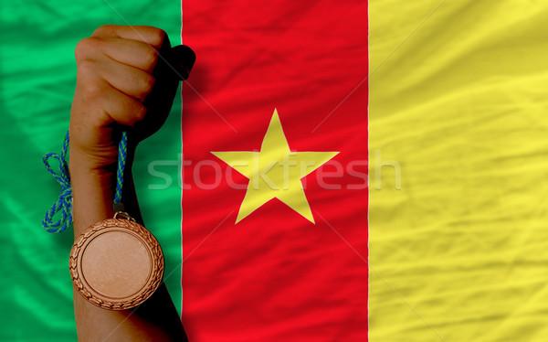 Bronzen medaille sport vlag Kameroen Stockfoto © vepar5