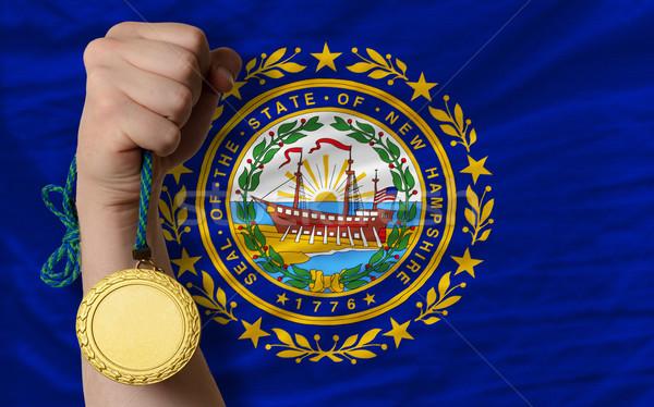 Aranyérem sport zászló amerikai új nyertes Stock fotó © vepar5