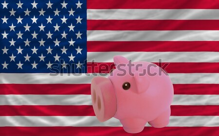 piggy rich bank and  national flag of liberia    Stock photo © vepar5