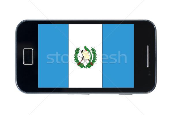 смартфон флаг Гватемала телефон интернет телефон Сток-фото © vepar5