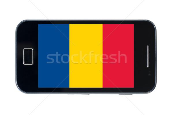 Bayrak Romanya telefon Internet telefon Stok fotoğraf © vepar5