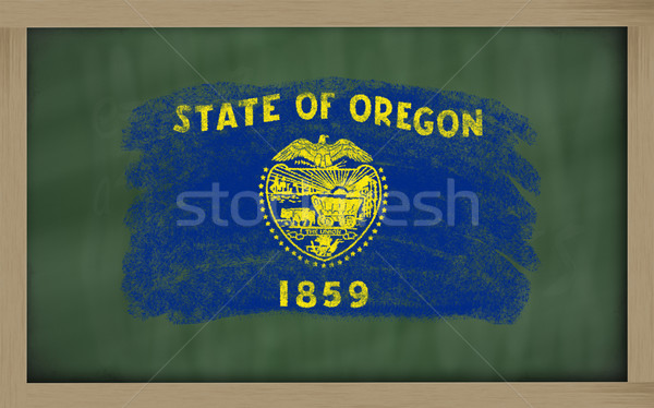 flag of us state of oregon on blackboard painted with chalk Stock photo © vepar5