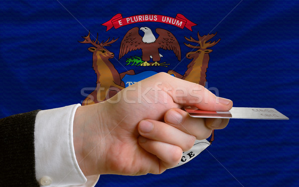 buying with credit card in us state of michigan Stock photo © vepar5