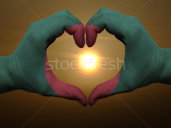 Coração amor gesto mãos Bangladesh Foto stock © vepar5