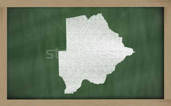 Mapa Botswana pizarra dibujo Foto stock © vepar5