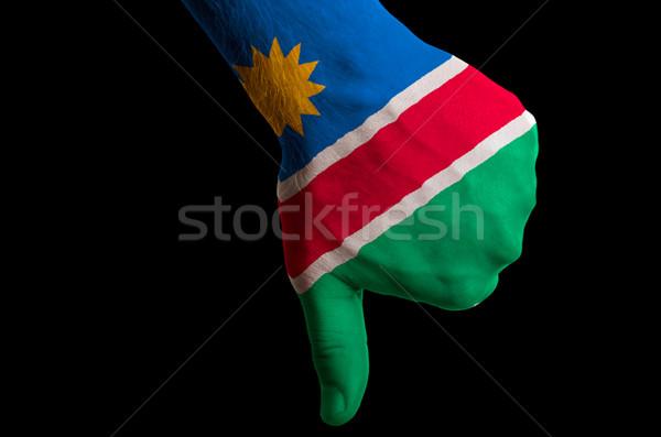 ナミビア フラグ 親指 ダウン ジェスチャー 失敗 ストックフォト © vepar5