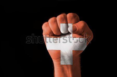 Dinamarca bandeira polegar para cima gesto excelência Foto stock © vepar5