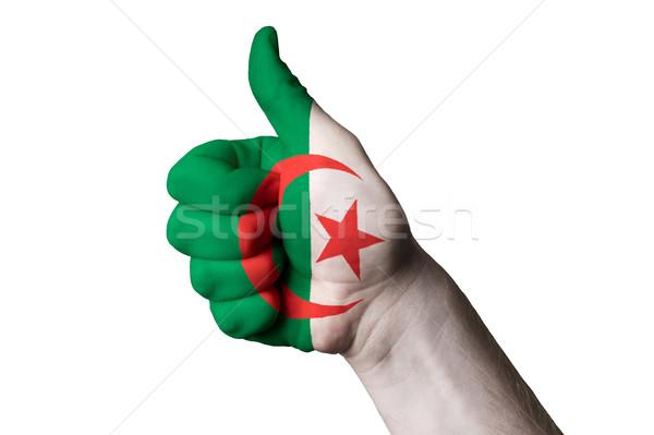 Argélia bandeira polegar para cima gesto excelência Foto stock © vepar5